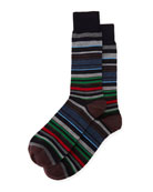 Multi-Stripe Wool Socks