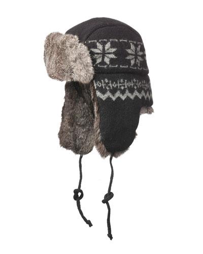 Snowflake Aviator Hat
