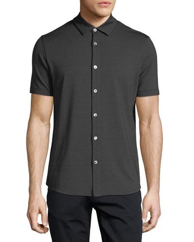 Jersey Stripe Button-Down Shirt