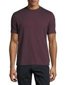 Textured-Knit Crewneck T-Shirt