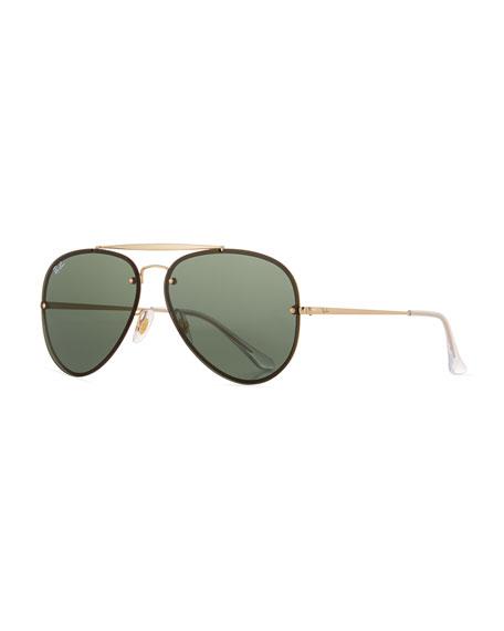Ray-Ban RB3584 Aviator Sunglasses, Gold