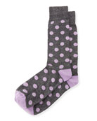 Dot-Print Cotton Socks