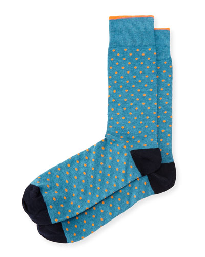 Contrast Dots Cotton Socks