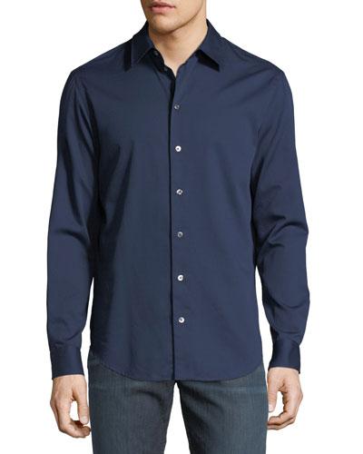 Basic Woven Cotton Sport Shirt