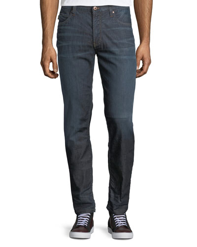 Mid-Wash Five-Pocket Jeans