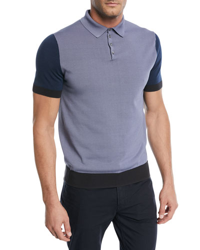 Colorblocked Polo Sweater