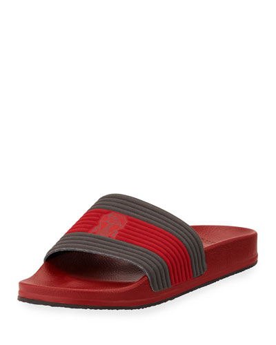 Striped Slide Sandal