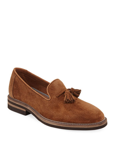 Tasseled Suede Loafer