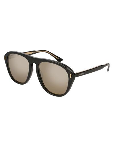 Polarized Square Acetate Sunglasses
