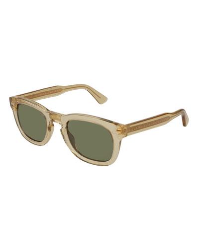 Polarized Square Translucent Acetate Sunglasses