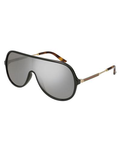 Injected Metal Mirrored Aviator Sunglasses