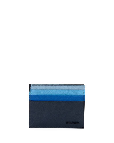Multicolor Saffiano Leather Card Case
