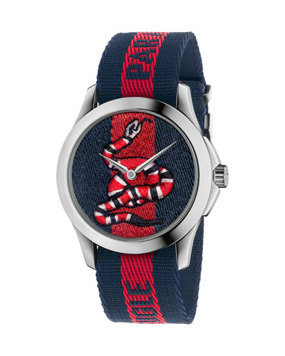 38mm King Snake Watch w/ Nylon Web Strap