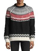 Reverse Fair Isle Cashmere Sweater
