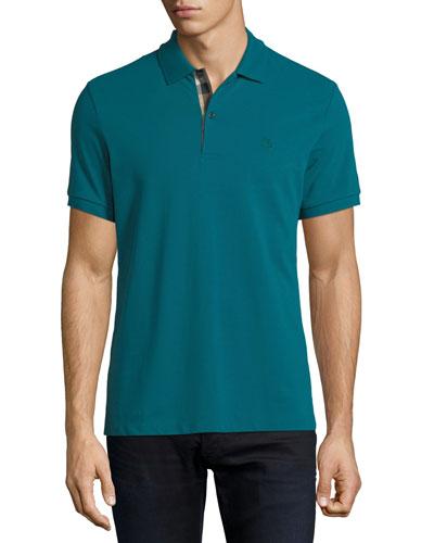 Short-Sleeve Oxford Polo Shirt, Green