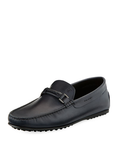 Braided-Bit Leather Loafer