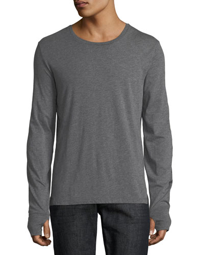 Marchston Logo Sleeve T-Shirt, Medium Gray