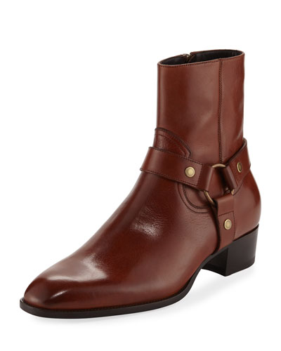 Wyatt Leather Harness Boot