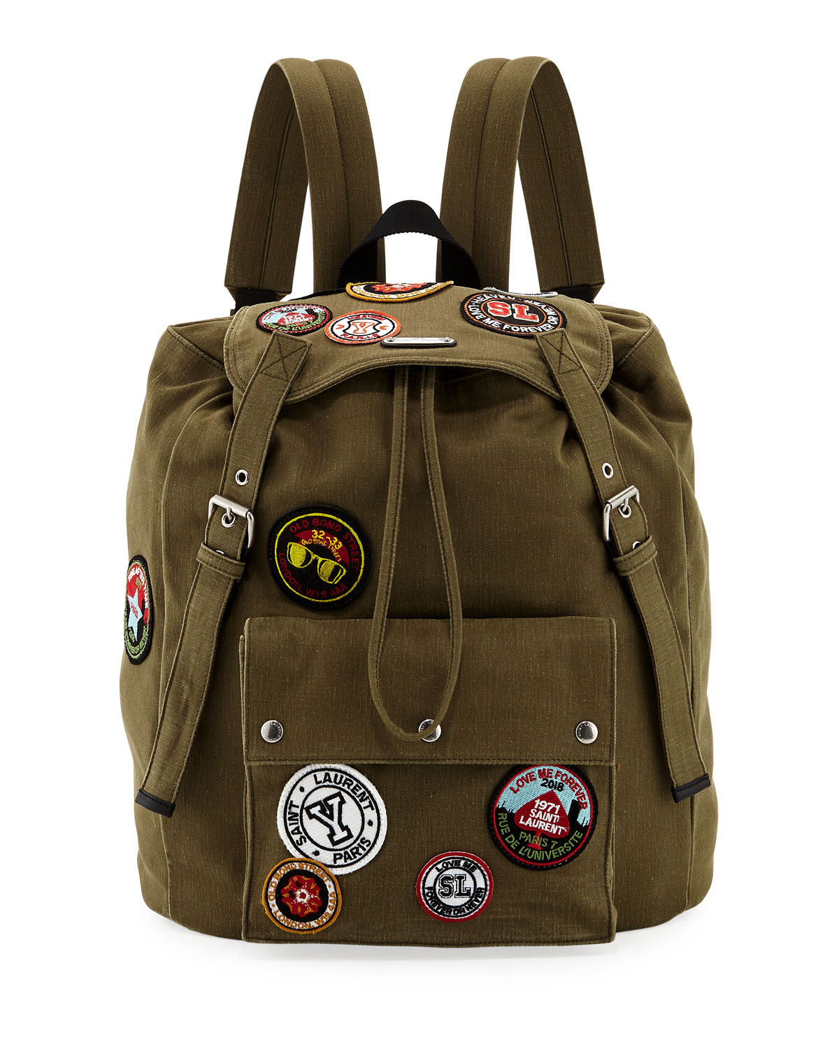 Noe Patched Canvas Backpack