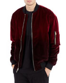 Dip-Dyed Velvet Bomber Jacket
