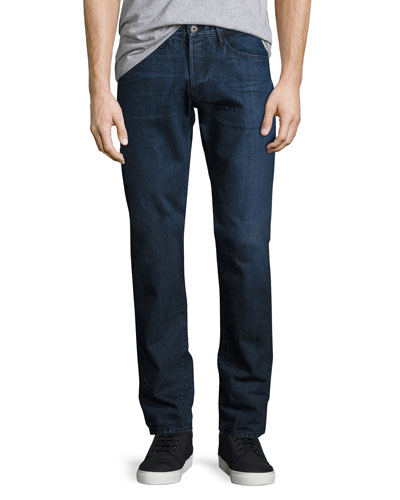 M4 Low-Rise Straight-Leg Jeans, Drifters