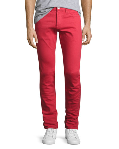 M5 Over-Dyed Low-Rise Slim-Fit Jeans