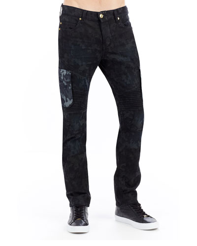 Rocco Camo Cargo Moto Jeans
