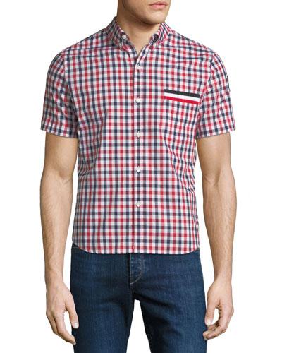 Camicia Short-Sleeve Checked Sport Shirt