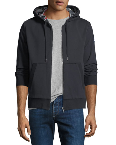 Maglia Zip-Front Reversible Hoodie Sweatshirt
