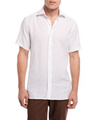 Linen Short-Sleeve Sport Shirt
