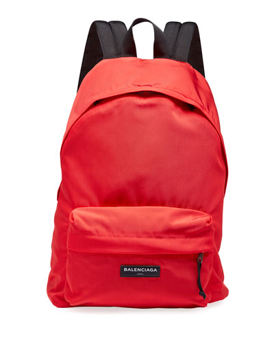 Men's Solid Canvas Backpack
