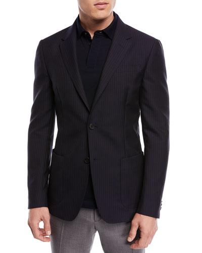 Cannette Striped Wool Jacket