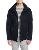 Shieldly Twill Field Jacket with Pack-Away Hood