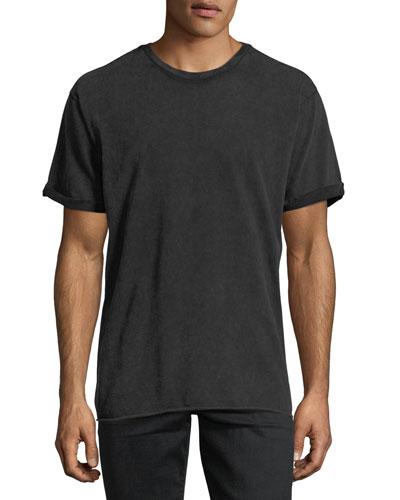 Mile Sueded Cotton Crewneck T-Shirt