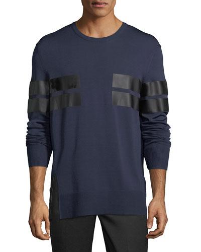 Reflective Stripe Long-Sleeve T-Shirt