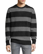 Freddy Stripe Sweater w/ Zip Cuffs