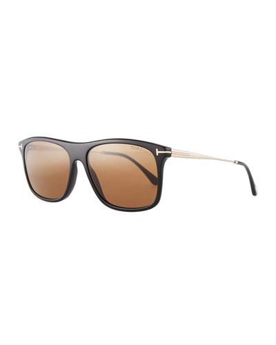 Max Rectangular Sunglasses, Black