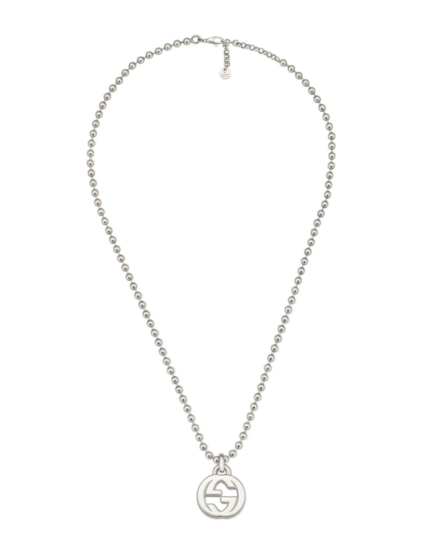 Men's Interlocking GG Pendant Necklace