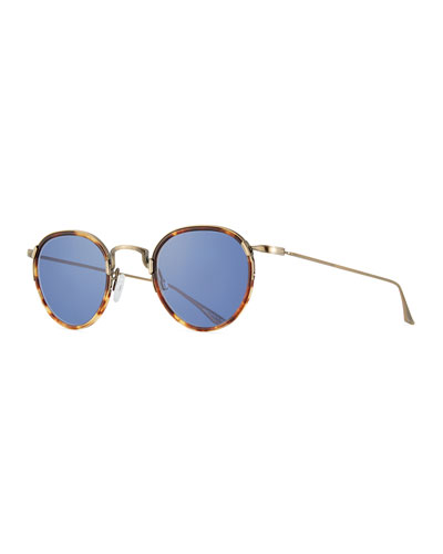 Men's Aalto Matte Metal Sunglasses, Brown