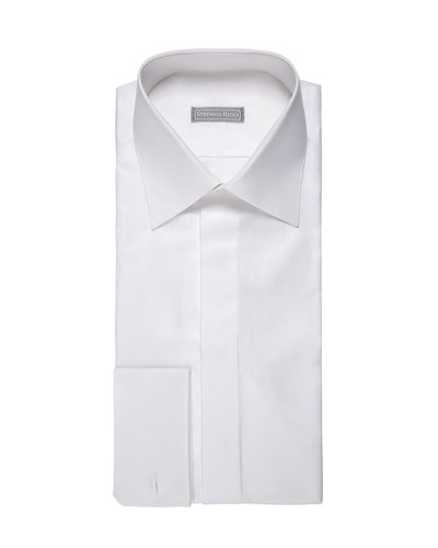 Solid Piqué Dress Shirt