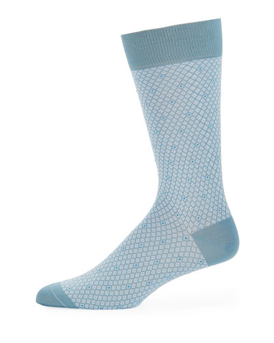 Dalby Diamond Cotton-Blend Socks