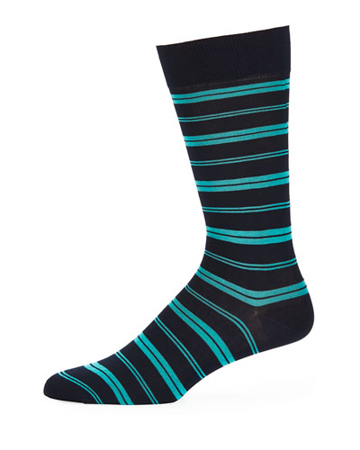 Saba Striped Cotton-Blend Socks