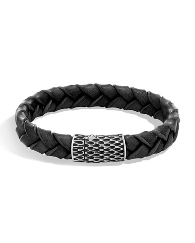 Men's Legends Woven Leather Bracelet