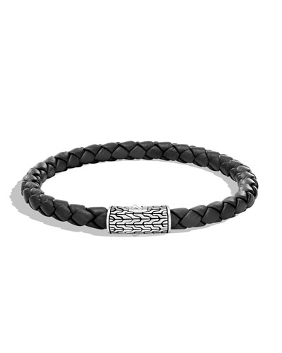 Men's Classic Chain Woven Bracelet, Black
