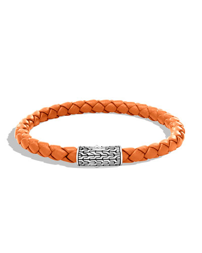 Men's Classic Chain Woven Bracelet, Orange