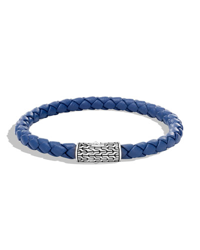 Men's Classic Chain Woven Bracelet, Blue