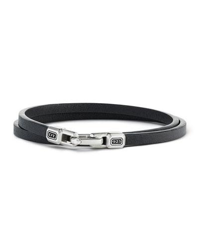 9eda91a792c Quick Look. David Yurman · Streamline Leather Double-Wrap Bracelet