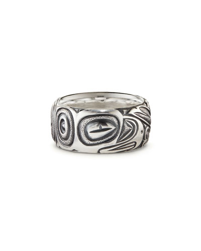 Men's 11mm Sterling Silver Northwest Band Ring