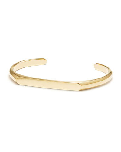 Men's 5.5mm 18k Gold Streamline Cuff Bracelet