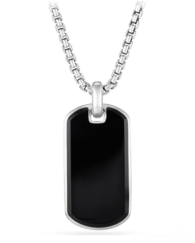 Men's Exotic Stone Tag in Black Onyx